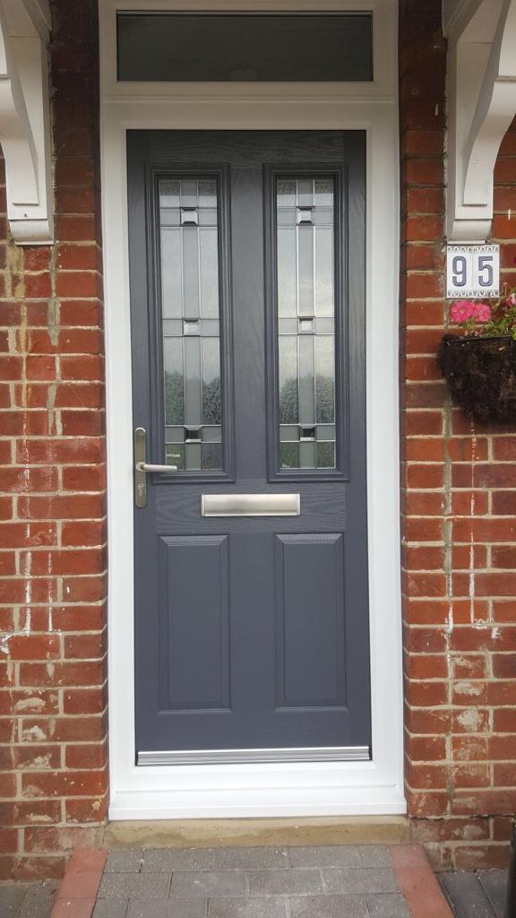 Dark grey composite door