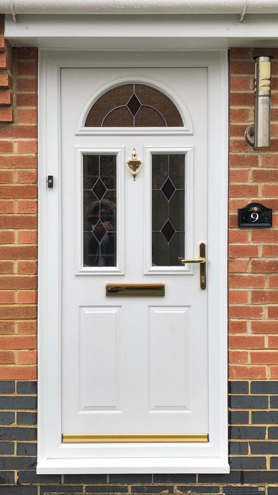 white composite door external